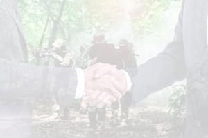 business people meet military veterans